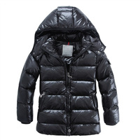 2012 winter children's clothing child down coat male female child black matt thermal