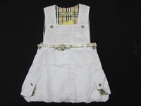 Neonice summer 100% cotton casual summer skirt suspender skirt children's clothing female child princess plaid