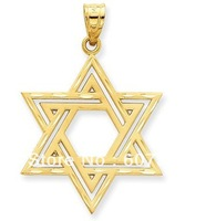Etched David star charms ,18k gold plated,12pcs a lot,free shipping
