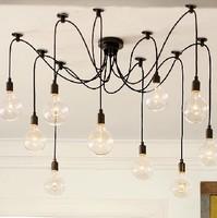 RH Loft American country industrial Edison bulb Lamp retro ten light small hob chandeliers