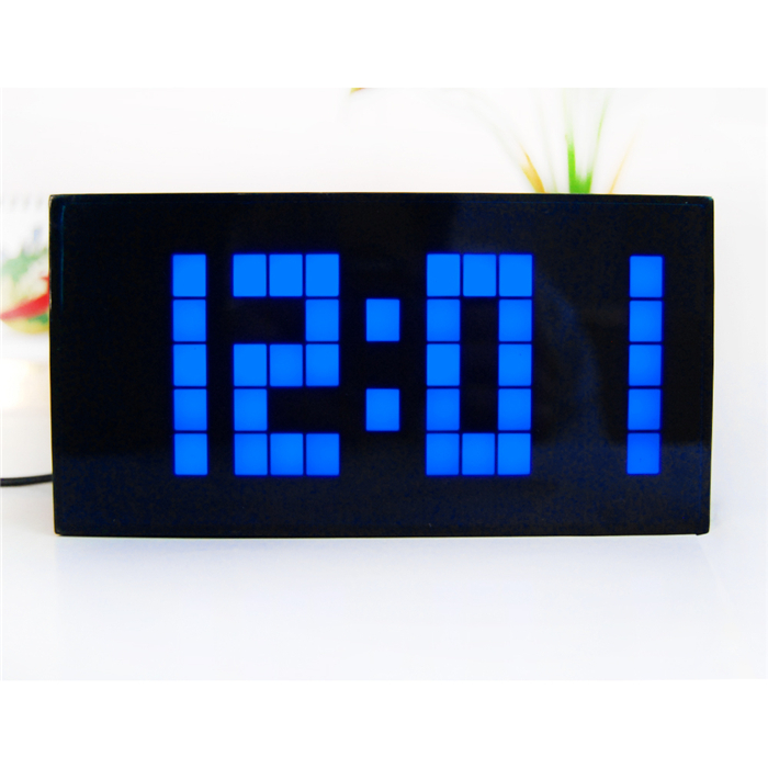 Large display big jumbo creative alarm clock light digital Cool digital wall clock
