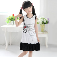 Children's clothing child female child cake lace juxtaposition one-piece dress sleeveless o-neck tank dress