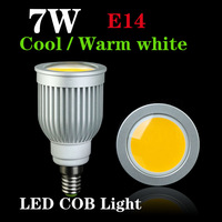 Energy saving 7W COB LED Ceiling light/down light E14 Cool/Warm White 550-650LM COB Spotlights LED bulbs