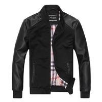 short design motorcycle leather clothing male leather slim leather clothing male leather jacket coat