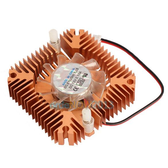 O3T# 55mm Computer Cooler Cooling Fan for CPU VGA Video Card Bronze Mini Professional(China (Mainland))