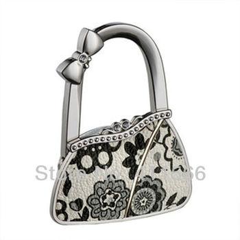 NEW Free Shipping 1 PC Fashion Originality Cute Bag Shape Design Handbag Folding Bag Purse Hook Hanger Holder For Girls Gift
