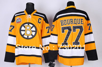 hot sale men's ice hockey jersey Boston Bruins #77 Ray Bourque ice hockey jersey for free shipping with ems