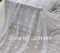 "Wholesales Lace Fabric White Daisy Gauze Embroidery Wedding Fabric 59"" width 10 yards/lot"