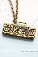 For nec  klace retro antique copper finishing radio necklace