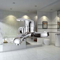 Bathtub shower faucet copper concealed