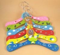 Wooden Cartoon Clothes Hangers Kids Clothes Tree Children Coat Hanger & Rack