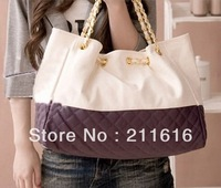 Free Shipping  2014 Newest Women's Fashion 5 Candy Color Soft Solid Pattern Designer Satchel Shoulder Purse Tote Bag HOBO B010