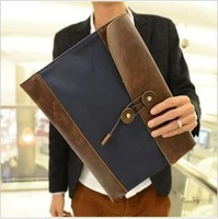 2014 Men's Korean Style Business Envelop Handbag  Fashionable  Antiquing PU Bag Free Shipping BSP033