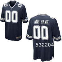 Free Shipping  Wholesale Men's Dallas Customized Game jersey Team Color Jersey American Football Jersey Mixed Order