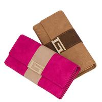 New arrival 2013 women clutch bags long woven wallet color block fashion women's purse free shipping