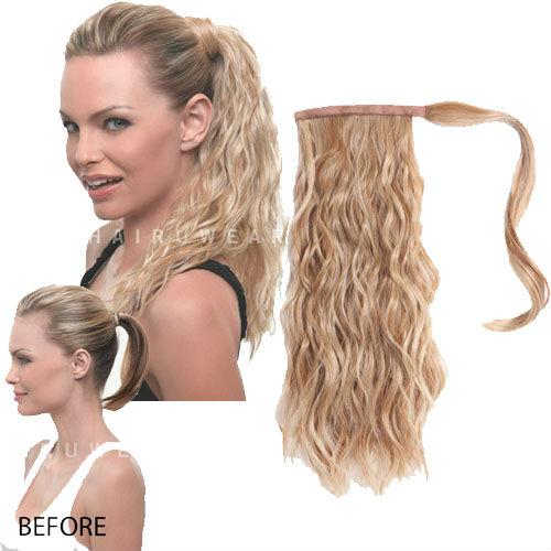 Clip In Ponytail Wrap Around Ponytail Hair Extension Gorgeous Curls