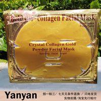 ,free shipping,Gold Bio-Collagen Facial Mask Face Mask Crystal Gold Powder Collagen Facial Mask Moisturizing Anti-aging 10/lot
