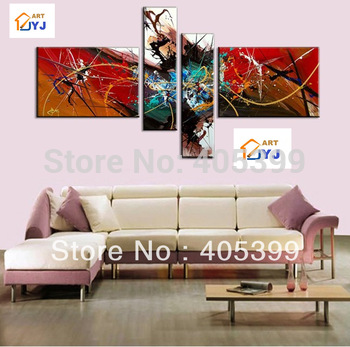 Free Shipping !! The Warm! ! Huge  Real Handmade Modern  Oil Painting On Canvas Wall Art ,Z059