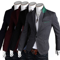 Mens Casual Top Design Sexy Slim Fit Blazers Coats Suit Jackets 4 Size New