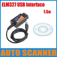 Hot Sell elm 327 1.5a, ELM327 USB, elm327 interface,usb elm327 scanner, OBDII OBD2 CAN-BUS Diagnostic Scanner