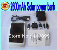 2600mAh Solar Batery Panel Portable USB Solar Power Bank Charger for Mobile Phone MP3 MP4