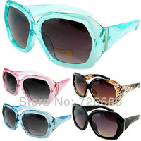 Free Shipping! Christmas Gift Hot Summer Shades Big Frame Wayfarer Jelly Transparent UV400 Sunglasses 120-0037
