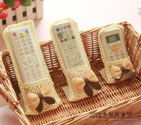 Remote control cover lace cloth lace remote control set remote control protective case meters dot