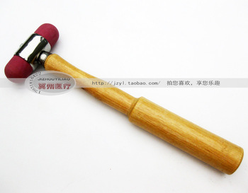 Rubber head wool massage stick massage hammer wooden handle percussion hammer wooden buckle diagnosis hammer wool meridiarns