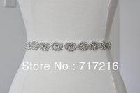 Stunning crystal beaded sequined hot sale wedding dress waistband wedding dress belt wedding dress sash
