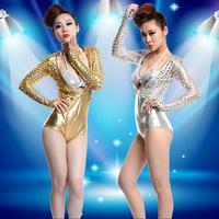 Colorful laser paillette one piece fashion clothes female clothing
