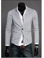 Promotion New arrival British Style men's fashion slim one button jackets Free Shipping