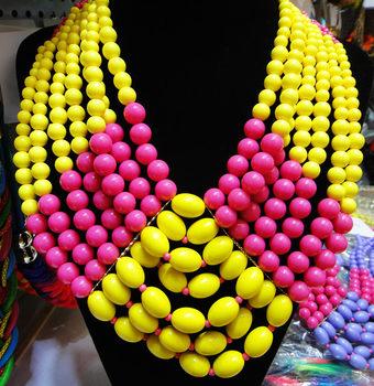 Fashion handmade multi-layer irregular acrylic necklace short design accessories female