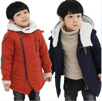 2013 winter new Children's cotton-padded coat boy's and girl's thickening hood zipper design outerwear, D123