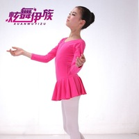 Free shipping Quality cotton long-sleeved leotard dance skirt body clothes clothing Grading