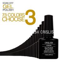 (Choose 3 Colors) Crislish Soak Off Uv Gel Nail Polish Acrylic Nail Kit Nail Varnish Color Gel Paint For Nails Shellac Wholesale