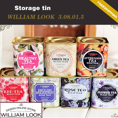 Free shipping Stationery Creative mini europe style Square Tea cans small tin storage box school 7pcs/lot promotion JP308015(China (Mainland))