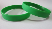 100pcs/Lot Green Blank Cheapest Silicone Wristbands! Super Fast Shipping for Rush Orders!