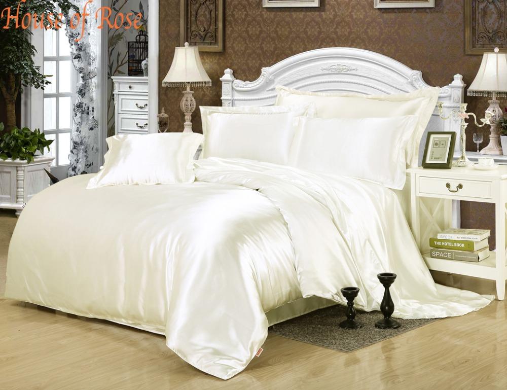 Silk Sheets Full Set Silk Satin Bed Sheet Set