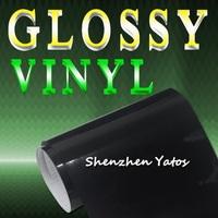 Black Glossy Car Protection Vinyl Film/Gloss Car Wrap Stickers Air Drain