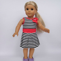 "Free shipping!! Doll Clothes dress  fits for 18"" American Girl Doll, girl birthday present gift  AGC-038"