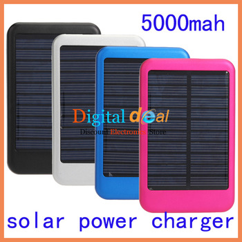 Universal 5000mah Solar Power Charger For  Mobile Phone MP3 MP4 Free Shipping! 5pcs/lot