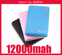 New arrived!! 12000mAh power bank Portable External Battery Backup Pack Dual USB for iphone ipad samsung