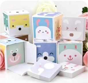 Free shipping Korean stationery Cute Animal magic cube memo pad books(China (Mainland))