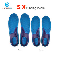 Free shipping/Dorpshopping Wholesale Silicone Gel Insoles Orthotic Arch Support Shoe Pad Sport Running Massaging Cushion Insole