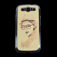 Drop&Free shipping young girl Crystal Transparent Diamond Hard Case Cover Skin For Samsung GalaxyS3 I9300 JS0487