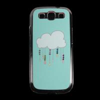 Raining Crystal Transparent Diamond Hard Case Cover Skin For Samsung Galaxy S3 III I9300 Drop&Free shipping JS0480