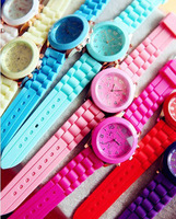 Harajuku ice cream candy trend vintage neon color watch table mint green