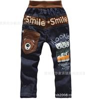 hot sales summer 4pcs/lot boys girls fashion new styles jean cartoon print trousers kids demin pants