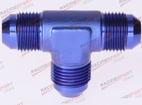 AN4 4AN AN -4 Male FLARE UNION Tee T-piece fitting adapter AD23002 blue