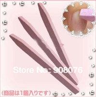New Nail Art Stone File Buffers Manicure Tools Nail Cuticle Pusher 5 pcs/lot Free Shipping